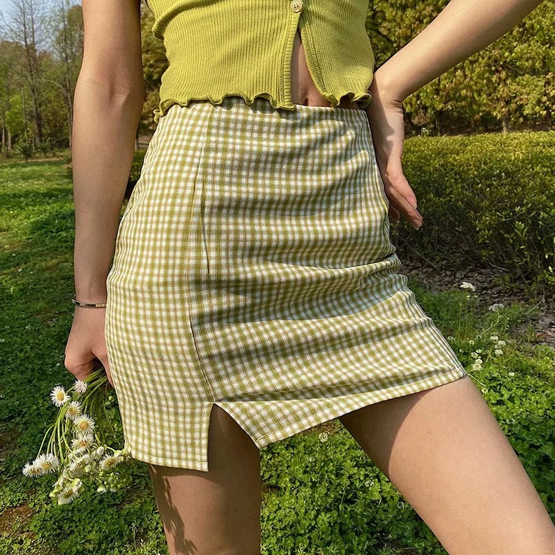 Sherley Plaid Skirt