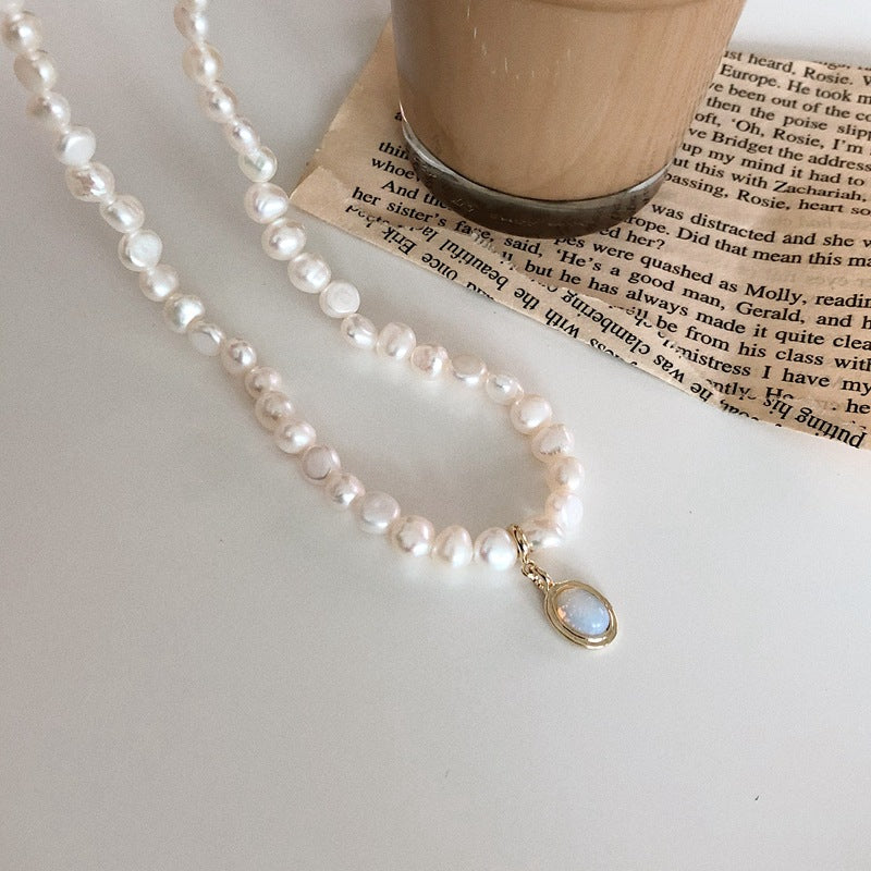 Gemstone with Moonstone Necklace