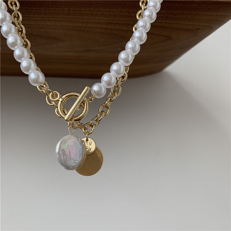Pearl Pendant Layer Necklace