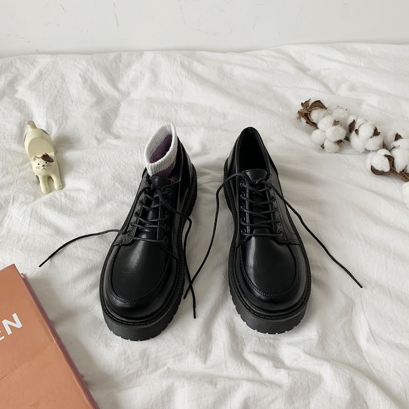 Lace Up Preppy Mary Jane Shoe