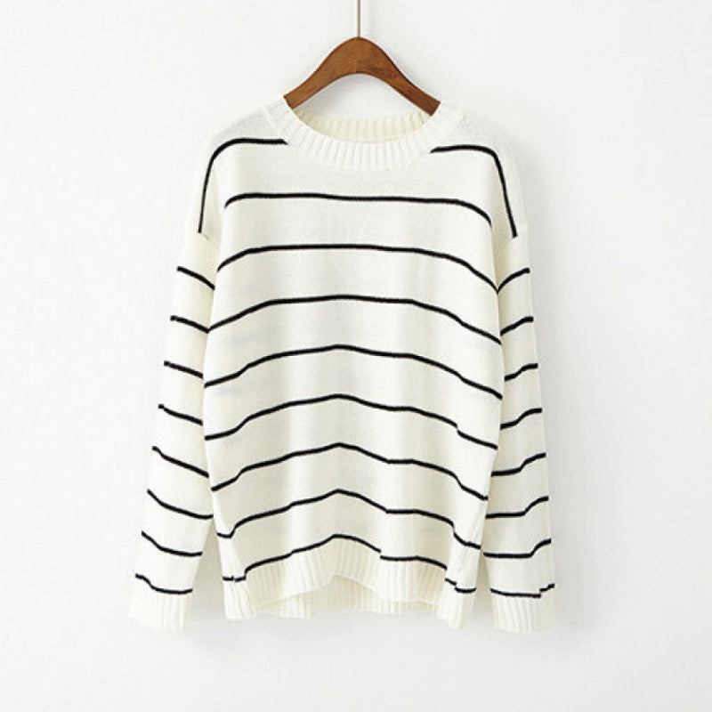Stripes Knit Pullover H191