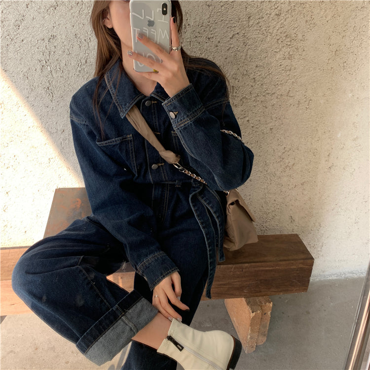 Anna Denim Jumpsuit