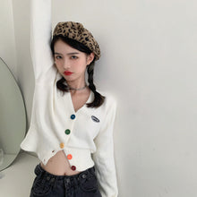 Load image into Gallery viewer, Cute Button Up Fuzzy Cardigan H8694