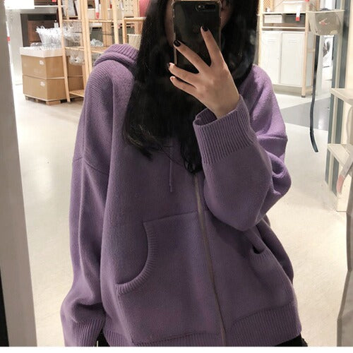 Oversized Knit Jacket