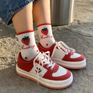 Cute Strawberry Sneakers