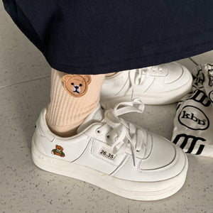 Cute Bear Print Sneakers
