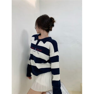 Classic & Casual Polo Stripes Sweater