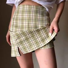 Load image into Gallery viewer, Sharon Grid Aline Skirt H8192