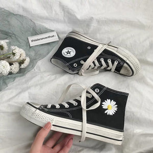 Little Daisy High Tops Canvas Shoe