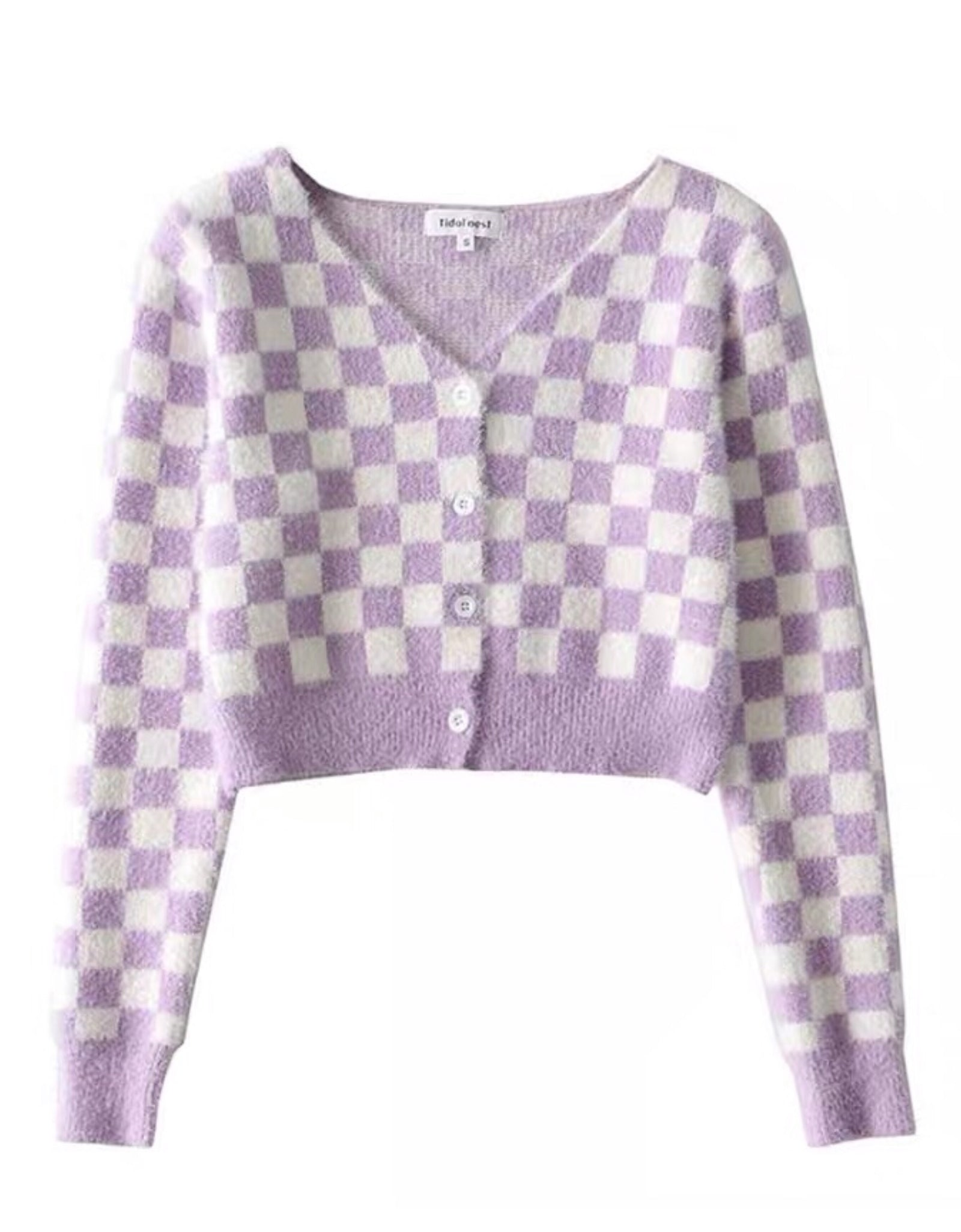 Pastel Checkered Cardigan