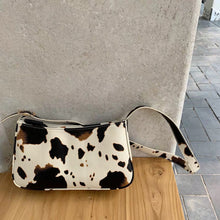 Load image into Gallery viewer, Cow Print French Style Armpit Bag