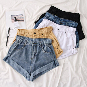 Retro Oversized High Waist shorts H0182