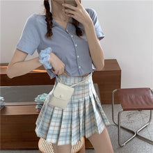 Load image into Gallery viewer, Ruby Plaid Pleated Skirt H7199
