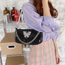 Load image into Gallery viewer, Dark Series Butterfly Pearl Sling Bag