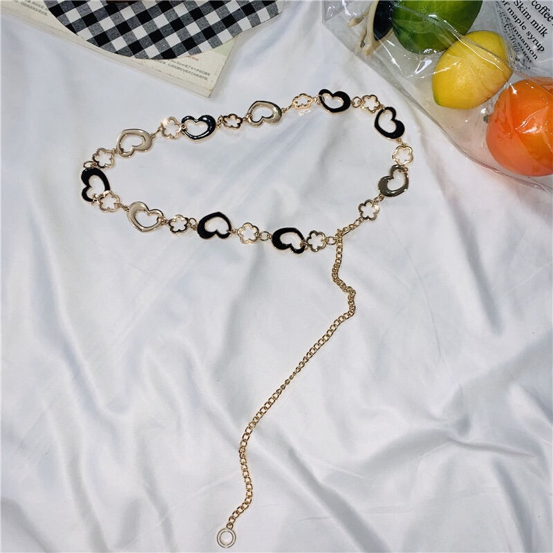 Heart Flower Waist Chain W002