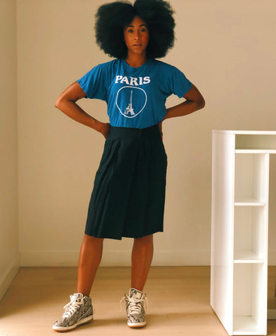 Vintage Blue Paris T-Shirt