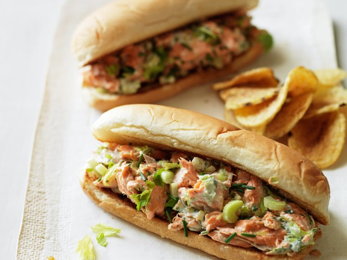 Lobster-Roll Style Salmon Sandwiches