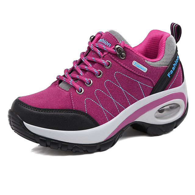 Ifrich Women's Leather Outdoor Walking Hiking Spring/Autumn/Winter Trainers