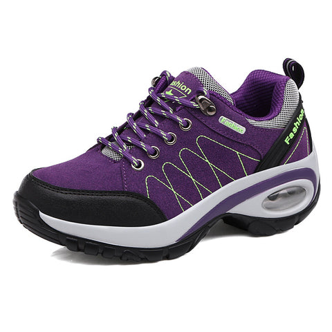 Image of Ifrich Women's Leather Outdoor Walking Hiking Spring/Autumn/Winter Trainers