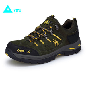 YITU Men's Anti-Skid Camel Outdoor Sports Hiking Trekking Shoes