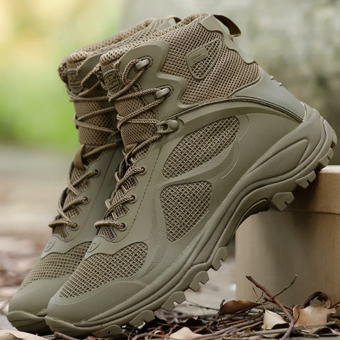 Men's High-Quality Sports Breathable Mesh Military Tactical Boot Hiking Trekking Hunting Climbing