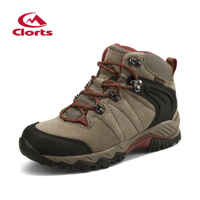 64df2beaf67 CLORTS Women's Waterproof Suede Leather Hiking Trekking Camping Climbing  Boot