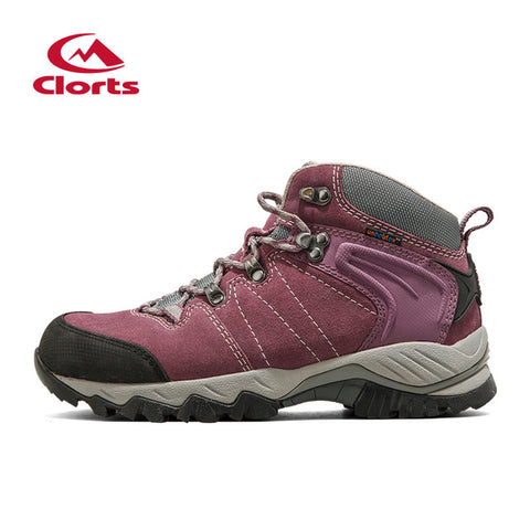 CLORTS Women's Waterproof Suede Leather Hiking Trekking Camping Climbing Boot