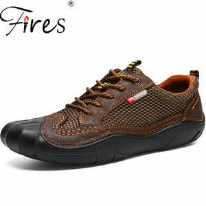 Fires Men's Women's Outdoor Sport Hiking Climbing Walking Breathable Mesh Shoes