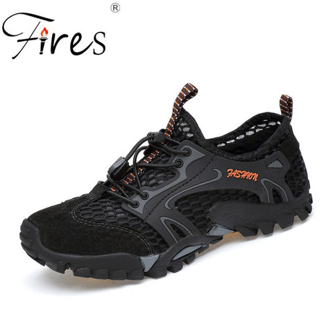 Fires Men's Breathable Air Mesh Outdoor Sport Hiking Trekking Climbing Shoes