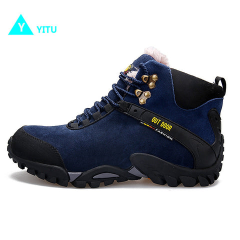 YITU Women's Fur-Lined Winter Anti-Skid Outdoor Sports Hiking Trekking Camping Boots
