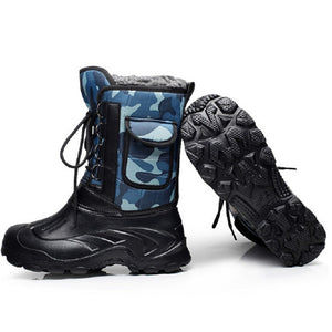 Men's Fleece-Lined Cold Weather Waterproof Rain Snow Boots