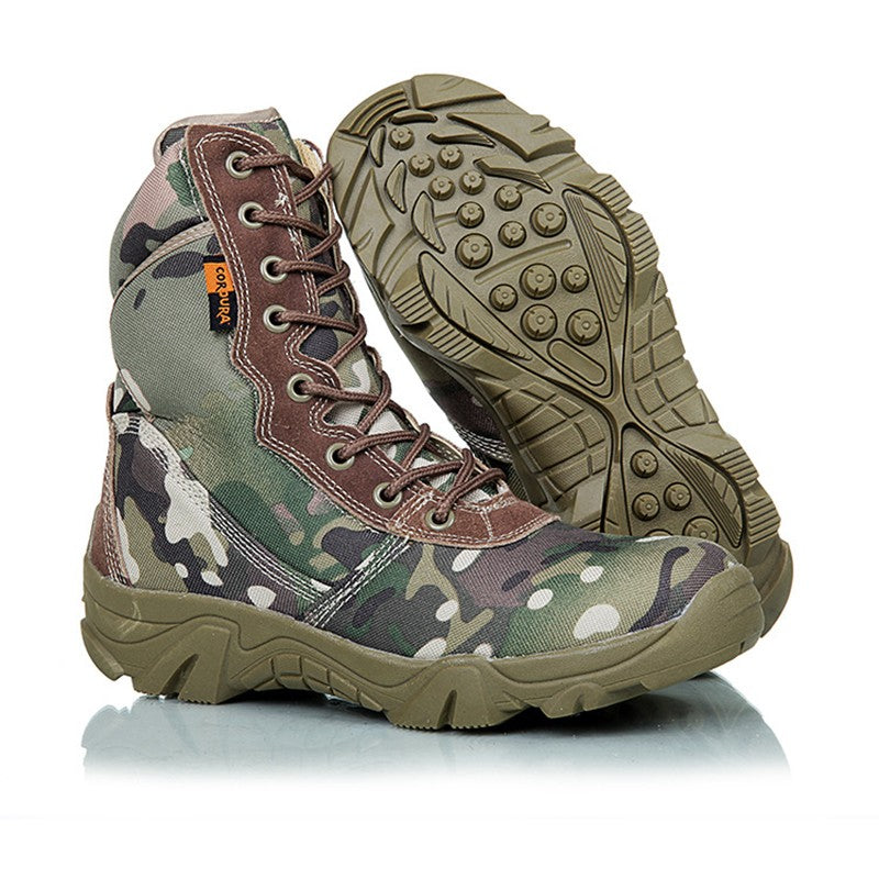 Men's Waterproof Fall Winter Tactical Military Tall Desert Hiking Boots
