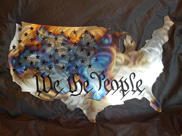 We The People Metal Sign