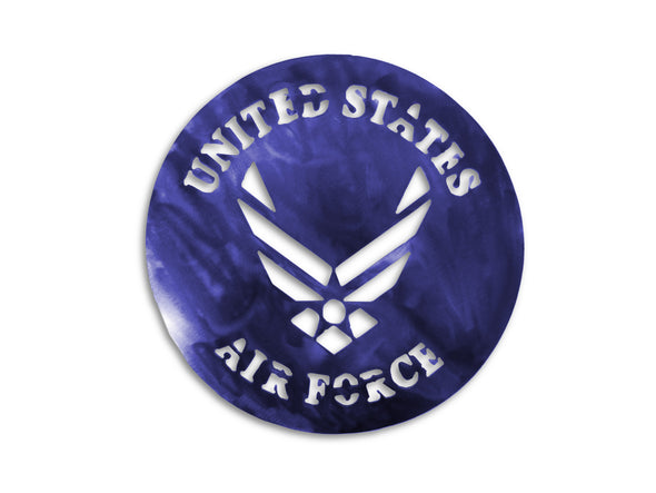 Metal U.S. Air force logo