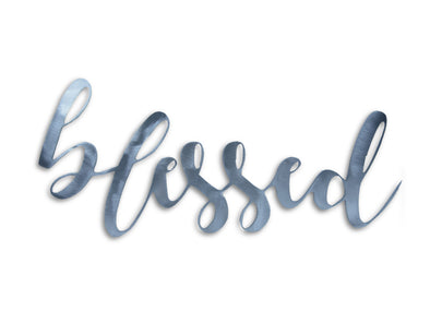 BLESSED Steel Home Decor Sign