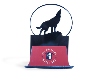 Metal Wolf Business Card Holder