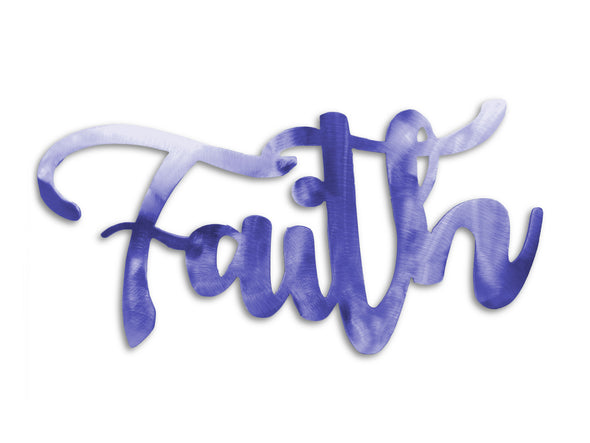 Faith Steel Home Decor Sign