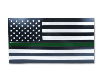 GREEN LINE Steel American Flag
