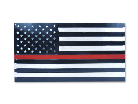 RED LINE Steel American Flag