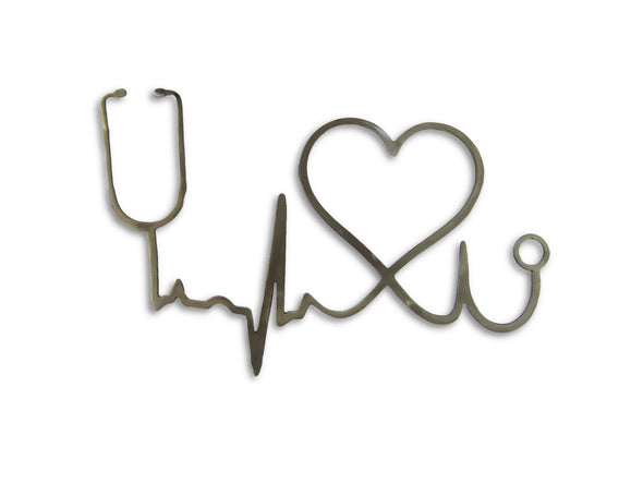 Metal Nurse, Faith, love wall art