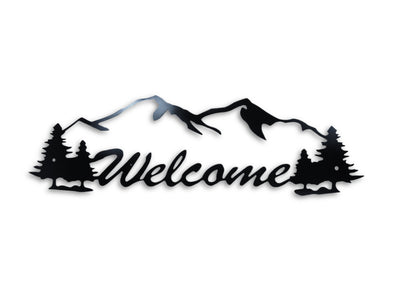 WELCOME Steel Home Decor Sign