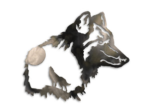 Wolf in Wolf Steel Home Decor Sign