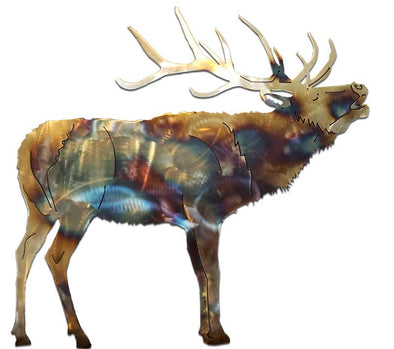 Metal Elk Wall Art
