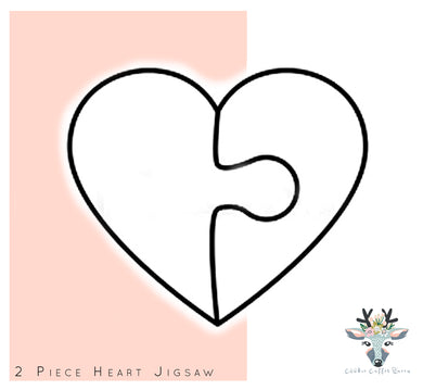 2 Piece Jigsaw Heart Cookie Cutter - CQ457