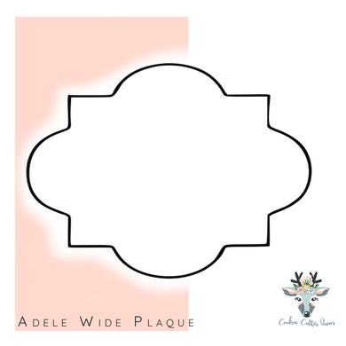 Adele Wide Plaque Cookie Cutter - CQ589