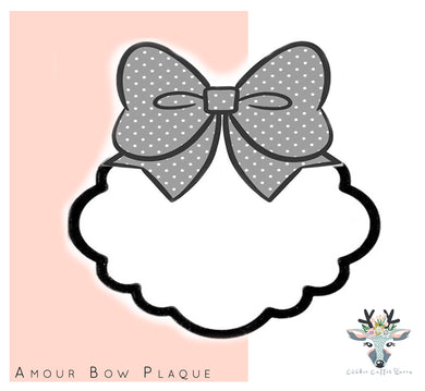 Amour Bow Plaque Cookie Cutter - CQ447