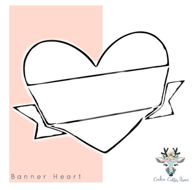 Banner Heart Cookie Cutter - CQ194