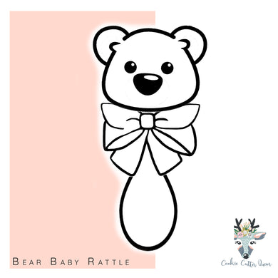Bear Baby Rattle  Cookie Cutter - CQ517