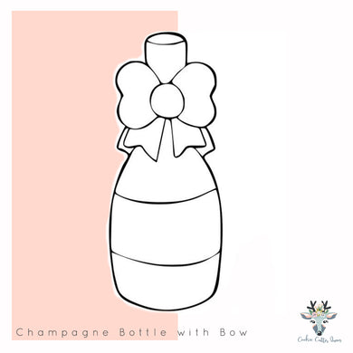 Champagne Bottle With Bow - CQ333