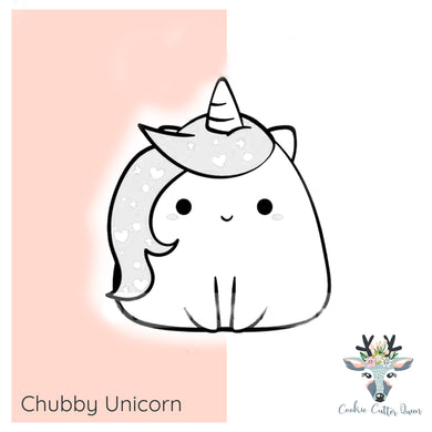 Chubby Unicorn Cookie Cutter - CQ831